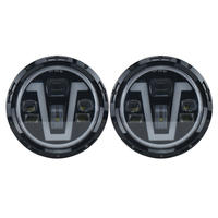 Jeep 7 headlight front LED Bulb V type for Wrangler JK TJ LJ CJ